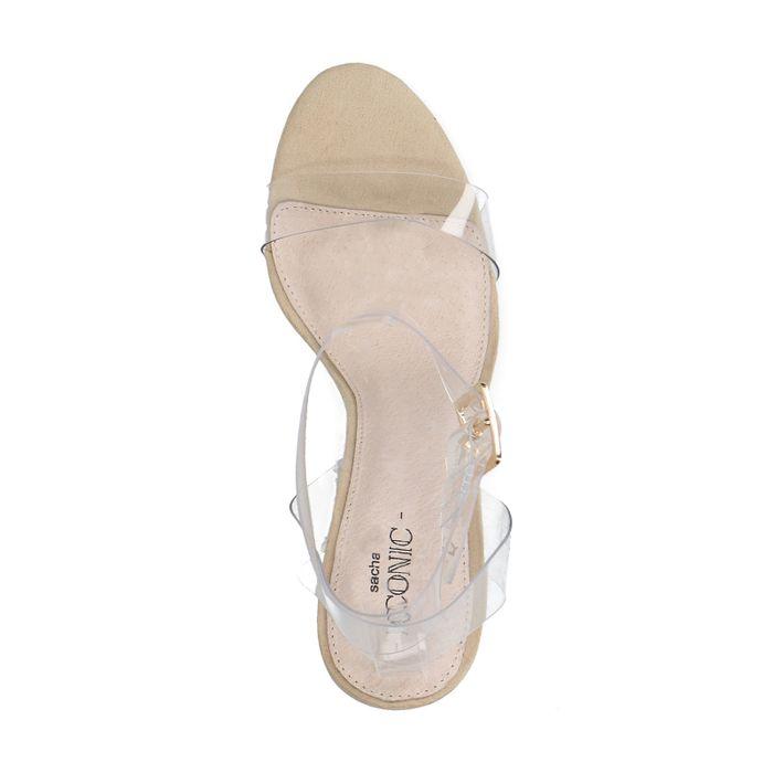 Durchsichtige Sandaletten