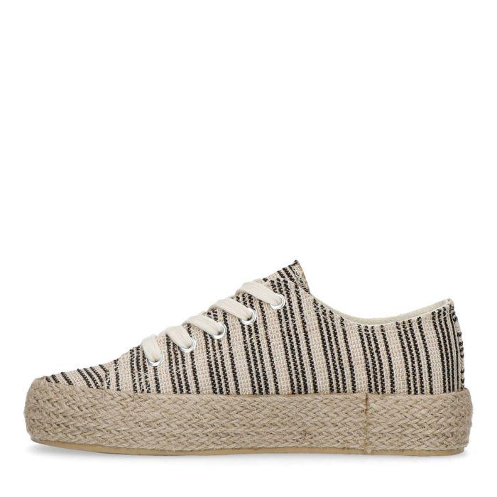 Plateau-Sneaker mit Streifen