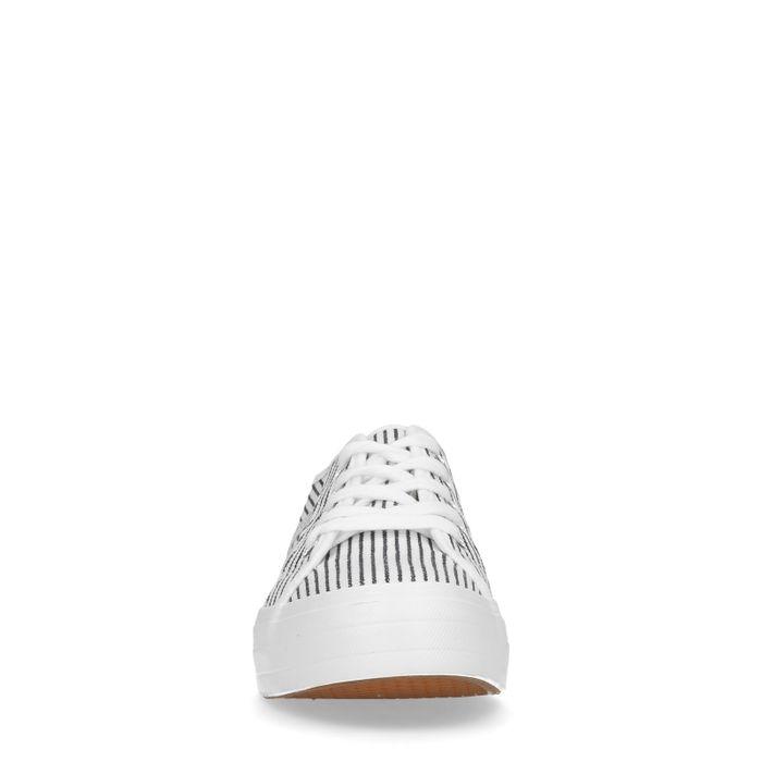 Weiße Sneaker mit Streifen