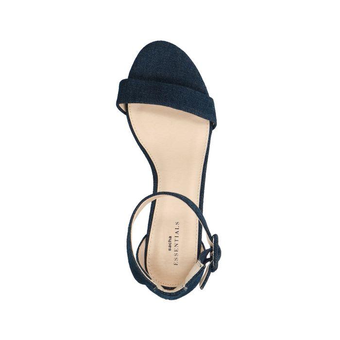 Denim-Sandaletten