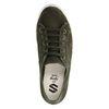 Dunkelgrüne Sneaker