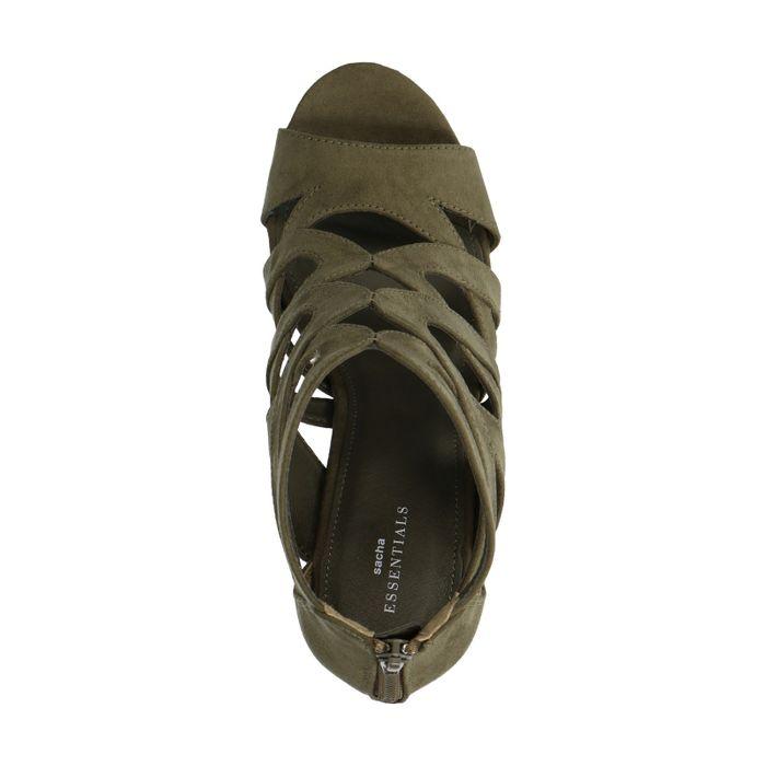 Dunkelgrüne Sandaletten