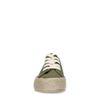 Dunkelgrüne Sneaker mit Jutesohle