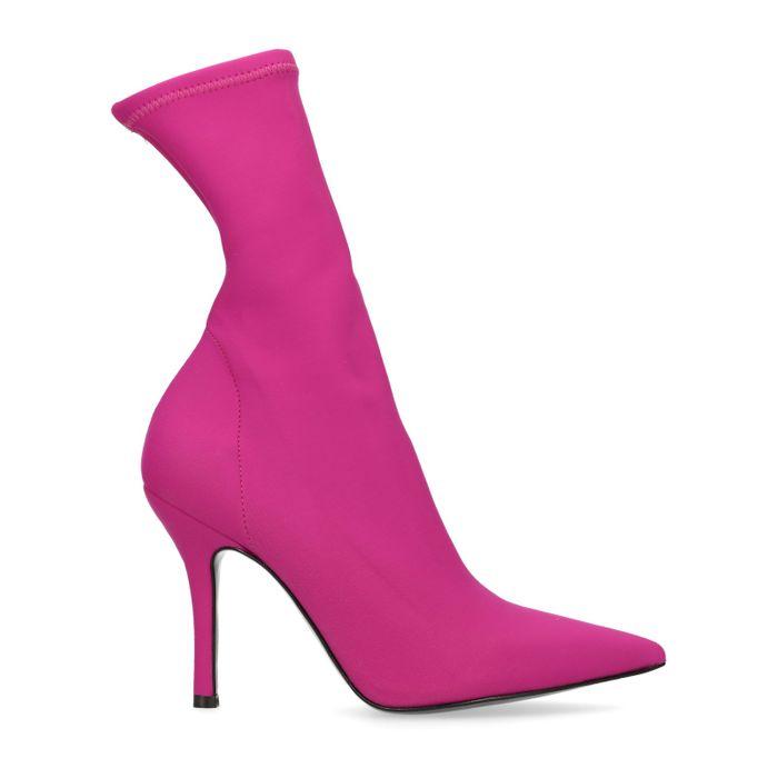 Rosafarbene Sock Boots