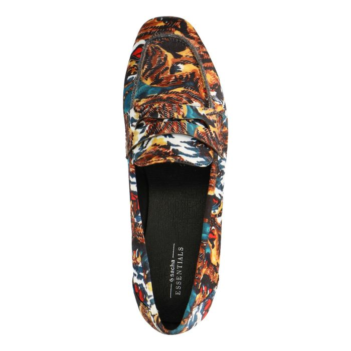 Loafer mit Tiger-Print