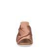 Nudefarbene Mules mit Schleife
