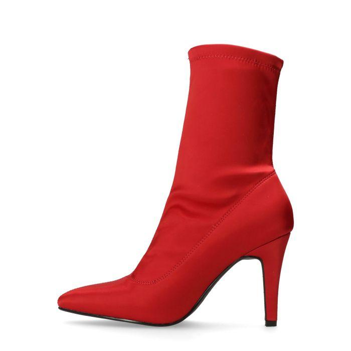 Rote Sock Boots mit Absatz
