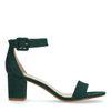 Grüne Sandaletten mit Midi-Absatz
