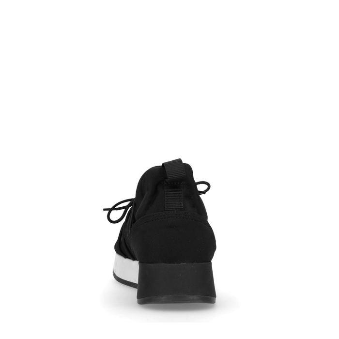 Schwarze Sneaker mit glänzendem Schlangenmuster