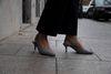 Karierte Slingpumps mit Kitten Heel