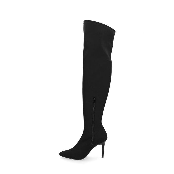 Schwarze Overknee-Sock-Boots