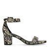 Schwarze Sandaletten mit Schlangenmuster