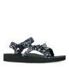 Schwarze Sandalen mit Bandana-Riemchen