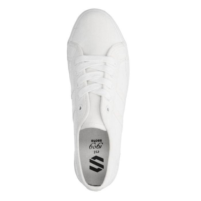 Weiße Sneaker mit Plateausohle