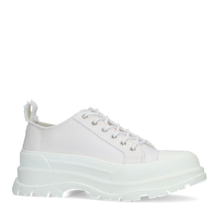Weiße Dad-Sneaker aus Textil