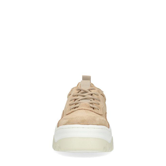 Beigefarbene Dad-Sneaker