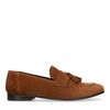 Braune Veloursleder-Loafer