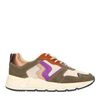 Dunkelgrüne Sneaker mit weißer Plateausohle