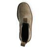 Beigefarbene Chelsea Boots aus Veloursleder