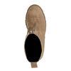 Beigefarbene Chelsea Boots aus Veloursleder mit Reißverschluss