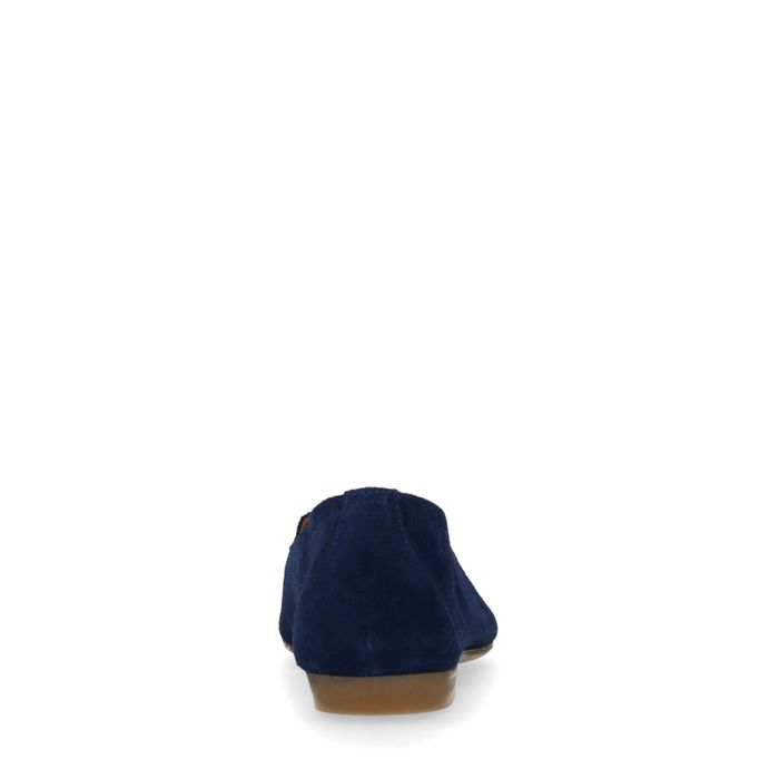Dunkelblaue Veloursleder-Loafer