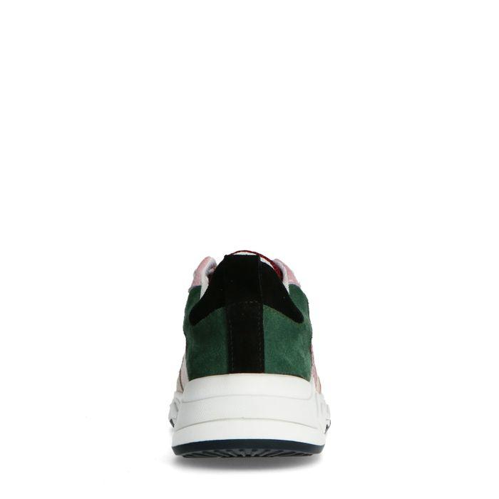 Bordeauxrote Veloursleder-Sneaker