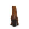 Braune Veloursleder-Stiefeletten mit Absatz