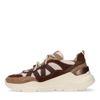 Camelfarbene Dad-Sneaker mit braunen Details