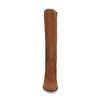 Hohe cognacfarbene Stiefel aus Veloursleder