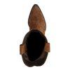 Cognacfarbene Cowboystiefel aus Veloursleder mit schrägem Absatz