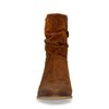 Cognacfarbene Veloursleder-Stiefeletten