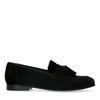 Schwarze Veloursleder-Loafer