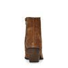 Cognacfarbene Western Boots aus Veloursleder