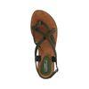 Grüne Sandalen mit geflochtenen Riemchen