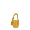 Gelbe Slingback-Pumps mit Blockabsatz