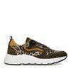 Grüne Dad-Sneaker mit Leopardenmuster