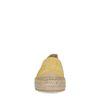 Gelbe Plateau-Espadrilles aus Veloursleder