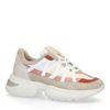 Graue Dad-Sneaker mit rosafarbenen Details