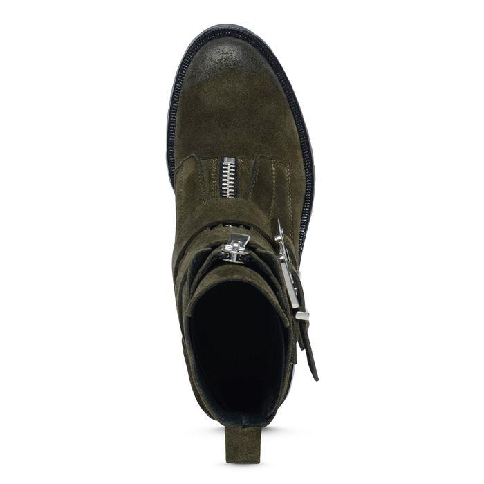 Biker Boots grün
