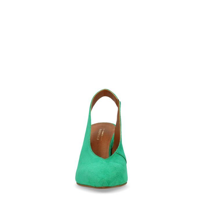 Grüne Slingback-Pumps