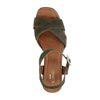 Grüne Veloursleder-Sandaletten