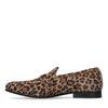 Veloursleder-Loafer mit Leopardenmuster