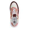 Mehrfarbige Veloursleder-Sneaker mit Metallic-Details