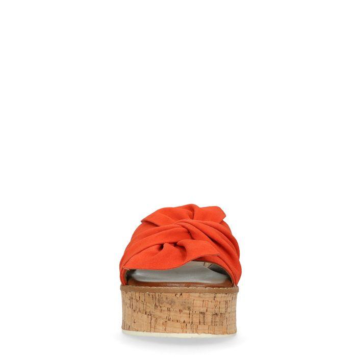 Plateausandalen orange