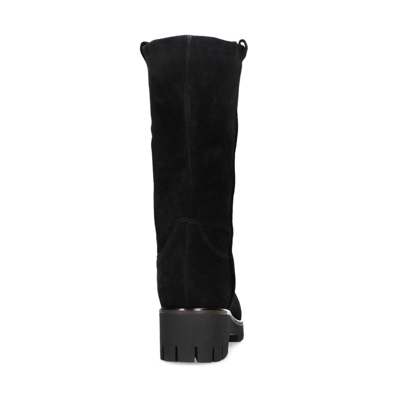 Sacha Kurze schwarze Stiefel aus Veloursleder