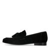 Schwarze Veloursleder-Loafer