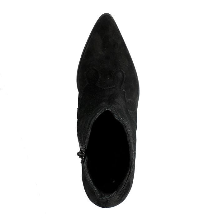 Schwarze Western Boots aus Veloursleder