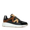 Schwarze Sneaker mit braunen Details