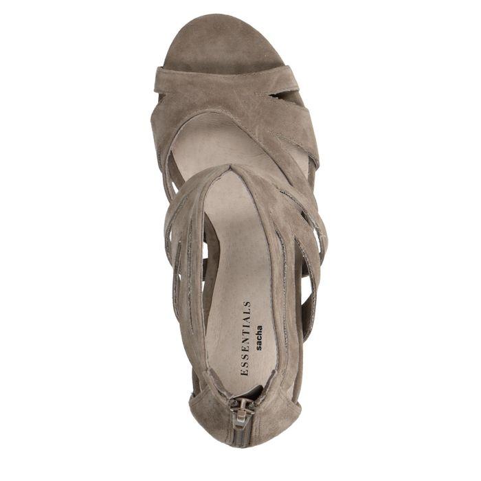 Taupefarbene Sandaletten