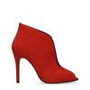 Rote Peeptoe-Pumps
